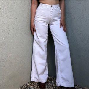 [vintage] 70s wide leg high waist white bells